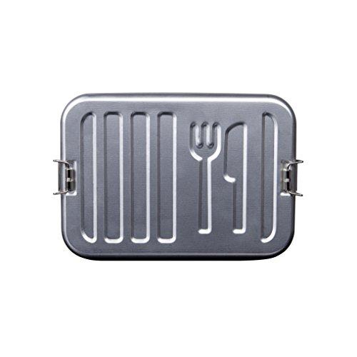 Rammstein Lunchbox Dose Denn Du Bist was Du Isst metallic Offizielles Band Merchandise