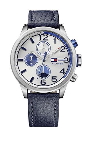 Reloj para hombre Tommy Hilfiger 1791240, mecanismo de cuarzo, diseño con varias esferas, correa de piel.