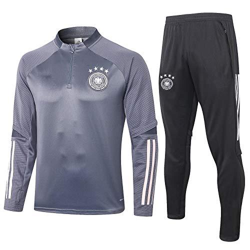 PARTAS Deutschland Tracksuits Football Wear Verein Uniform Langarm-Trainingsanzug Wettbewerb Anzug Herren 2 Stück Sets (Size : S)