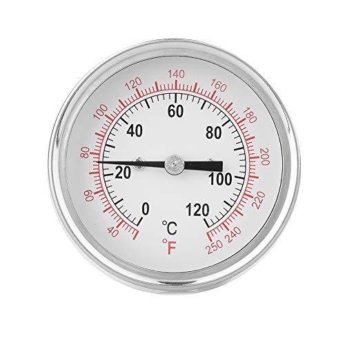 Diyeeni Termómetro bimetálico, 62 mm 120 ℃ Termómetro de Alta Temperatura de Doble Escala para hornos, hornos de Parrilla, Parrillas, Barbacoa, termómetro Digital de Carne de Lectura instantánea