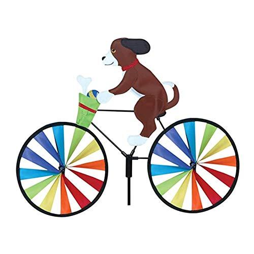 Hongjingda Animal 3D en la Bicicleta, Bicicleta de Animales Historieta Molino de Viento, Gato Bike Whirligig Yard Decoración de la decoración del jardín Decoración del césped Spinner de Viento