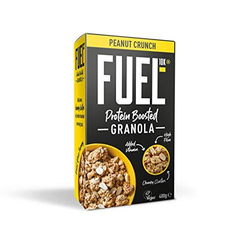 Muesli crujiente con aporte adicional de proteínas FUEL10K con cacahuetes, 6 x 400 g