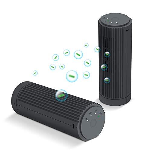 Goozy Purificador Aire Recargable Portátil con Modo Generador de Iones Negativos y Ozono 12 MG/HR 3 Modos de Uso Silencioso