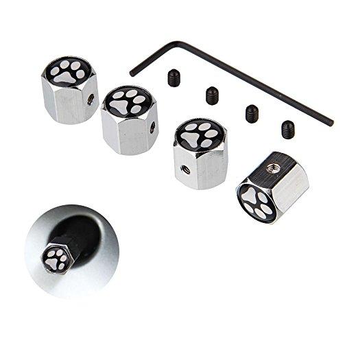 DSYCAR 4Pcs / Set Capuchones de válvula, Tapas Antipolvo, Tapa de válvula de Aire de Tapa de neumático para Coche/Motocicleta