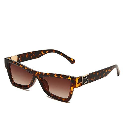 hqpaper Gafas de sol de ojo de gato para mujer, gafas de sol de moda con personalidad, Europa y América, marco de té gradiente tea_Como se muestra