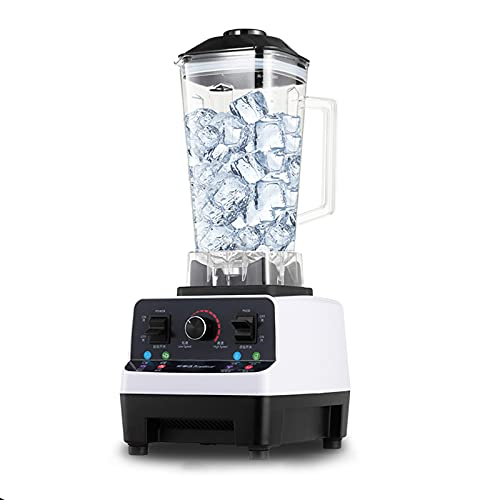Macchina per frullato da 2 litri, negozio di tè al latte commerciale, spremiagrumi per frullato con agitazione automatica, cibo rotto per la casa, lama in acciaio inossidabile al titanio da 6 pezzi