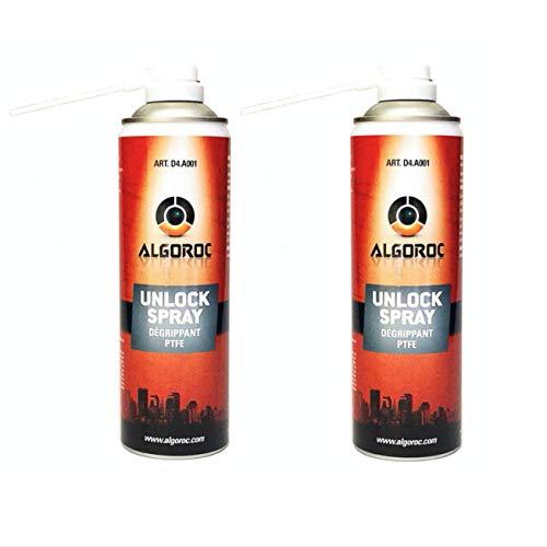 DEGRIPPANT PROFESSIONNEL PTFE ALGOROC UNLOCK SPRAY 500 ml - Les 2 Sprays