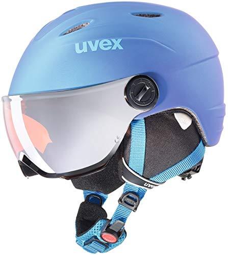 Uvex Kinder Vis. pro Skihelm, Blue met mat, 54-56 cm