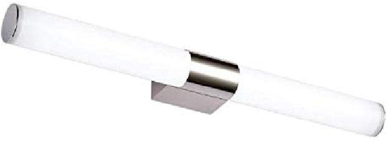 Spiegelleuchte Spiegelleuchte LED Simple Modern Edelstahl Bad Schlafzimmer Bad Spiegelleuchte Schranklampe Wandlampe Make-up Lampe, 80cm