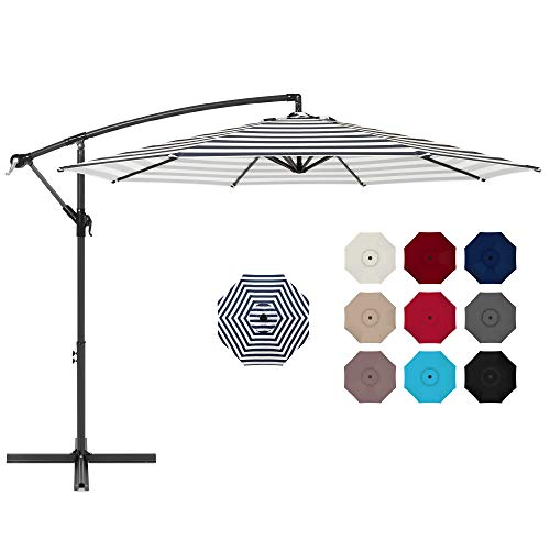 Best Choice Products 10ft Offset Hanging Market Patio Umbrella w/Easy Tilt Adjustment