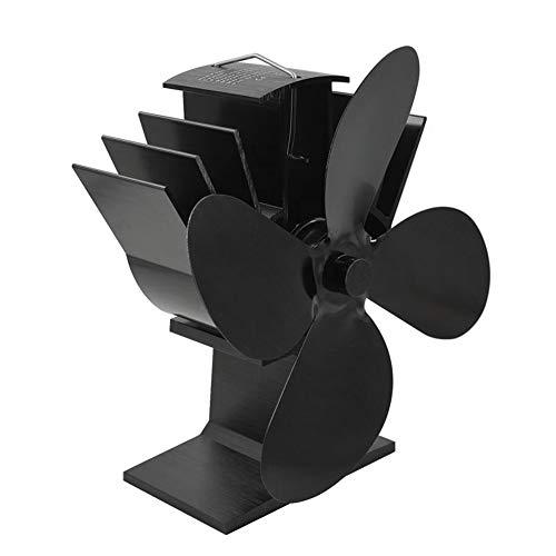 Lepeuxi Ventilador de Estufa Térmico de 4 aspas Ventiladores de Chimenea termodinámicos para Quemador de leña Chimenea Distribución de Calor ecológica Silenciosa