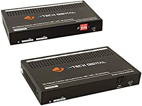 J-Tech Digital HDBaseT HDMI Extender 18Gbps with Audio Extraction and ARC. Dolby Digital/DTS, HDR10, 4K@60Hz 4:4:4, Upscaling, Bi-Direction IR, PoC, CEC, RS232, EDID, HDCP, HDMI 2.0 (JTECH-EXBT460)