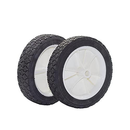 Parts Club 9611 Plastic Wheel 2PK Replacement Oregon 72-107/9611 Semi-Pneumatic Rubber Replacement Tire