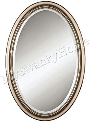 Stunning Silver Vanity Wall Mirror Oval
