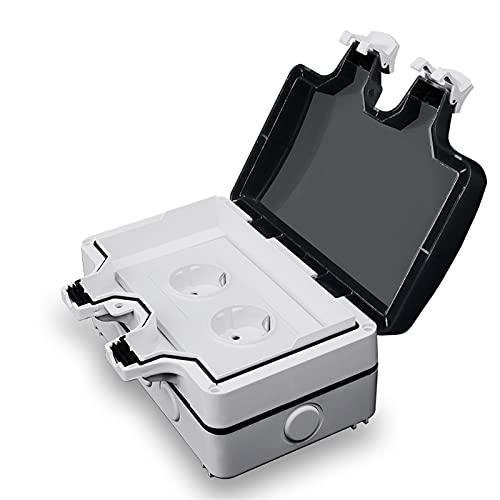 Panel de caja impermeable con enchufe de pared, Caja protectora del zócalo IP66 de 1 UNIDS, cubierta de polvo de interruptor de instalación al aire libre, caja de sello de zócalo de tipo 146, caja de