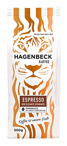 Hagenbeck - Kaffee - Espresso - Röstkaffee - ganze Kaffeebohnen - 500g - Aromatisch - Feine Crema