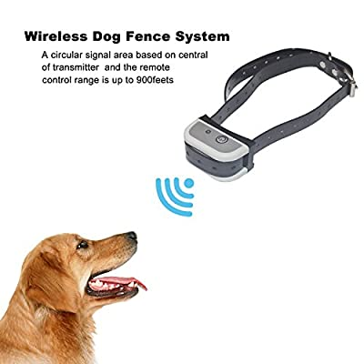 JUSTPET Wireless Dog Fence Safe Effective Dog Fence Collar, C-100 Rechargeable Waterproof Dog Collar Receiver