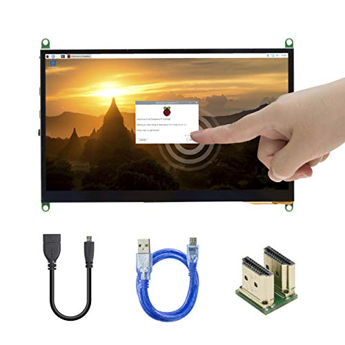 UCTRONICS 7 Inch IPS Touch Screen for Raspberry Pi 4, 1024×600 Capacitive HDMI LCD Touchscreen Monitor Portable Display for Raspberry Pi 4 B, 3 B+, Windows 10 8 7 (Free Driver)