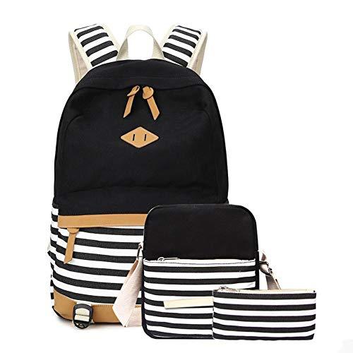 Jejhmy 3-delige golfdot streep, A, laptoptas schoudertas wandeltas tiener vrije tijd school rugzak