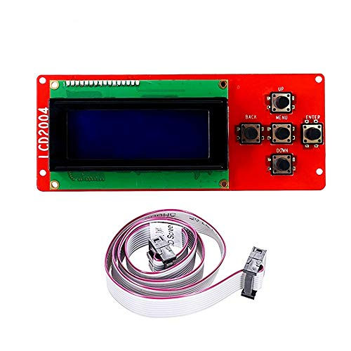 Anet A8 2004 LCD Smart Display Screen Controller Module with 5Pin Flexible Flat Ribbon Cable for Anet A8 Reprap Mendel I3 3D Printer Kit Accessory