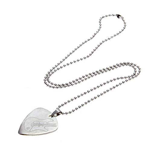 Punk Style Guitar Pick Necklace Fashion Stainless Steel Plectrum Pendant for Men Women Nice Gift