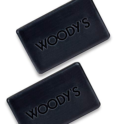 Woody's Mini Charcoal Soap Bar, 2 Pack