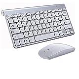 TYTG Accesorios para Laptop 2.4G Wirelesas Keyboard Combo Set Teclado Accesorios de computador (Color : Silver Combo)