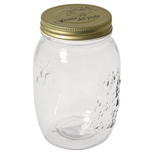 Rayher 68037000 Schraubdeckel Glas 1.000 ml, 10,5cm ø, 17cm