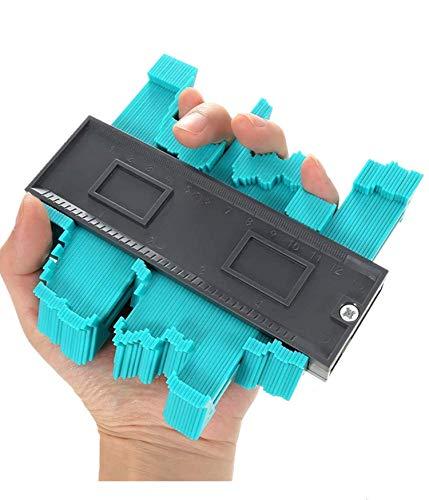 Konturenlehre 5.1''/130MM | Fliesen Laminat Duplikator Wickelrohre Holzarbeitung Markierungswerkzeug | Profil Kopierer mit Skala unregelmäßiges Konturmessgerät für präzise Messung (5 Zoll / 13 cm)