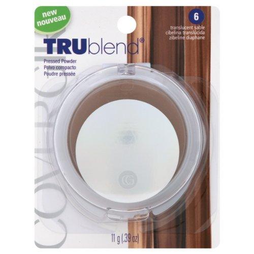 Covergirl Trublend Pressed Powder, Translucent Sable 6, 0.39 Oz, 2 Ea