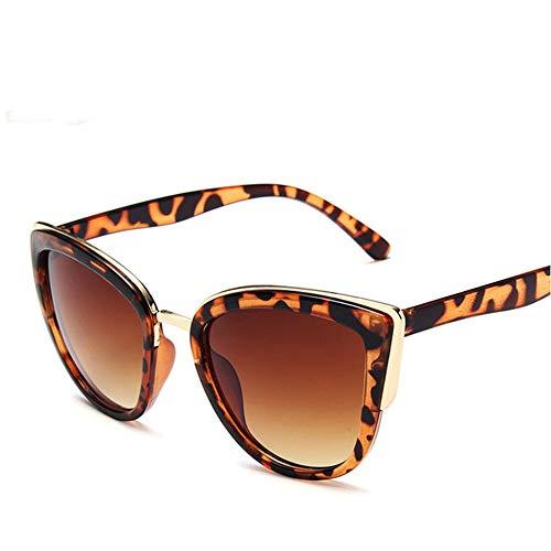 WPHH Gafas De Sol De Ojo De Gato De Moda Polarizadas Mujeres Gradiente Vintage Gafas De Sol Gafas De Sol UV400 Femeninas,Leopard Brown