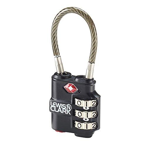 Lewis N. Clark Heavy Duty Lock, Black
