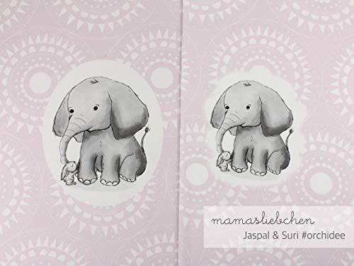 Mamasliebchen Jersey-Stoff jaspal & Suri #Orchidee (1 Panel, ca. 0,65m) Elefant Hase Panel