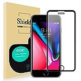 Ossky Verre Trempé Compatible avec iPhone 6 / 6s / 7/8, Kit d'installation Offert, Anti-Rayures, Anti-Chocs, sans Bulles, Dureté 9H, Protecteur D'écran Compatible avec iPhone 6 / 6s / 7/8 (Noir)
