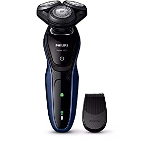 Philips Shaver Series 5000 Wet and Dry Cordless Electric Shaver with ComfortCut Blade System, 5-Direction Flex Heads and SmartClick Precision Trimmer, Santorini Blue/Armour Grey, S5086/06 (B07TX4X88R) | Amazon price tracker / tracking, Amazon price history charts, Amazon price watches, Amazon price drop alerts