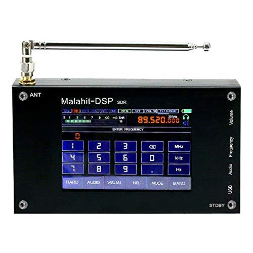 SDR-Empfänger, 50 K-2000 MHz, Malahit DSP SDR Radio-Empfänger, 8,9 cm Malachit SDR HAM Kurzwellen-Empfänger, Aluminiumlegierung