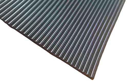 Feinriefenmatte Breite 1,2m - Länge in 10cm Schritten wählen | Dicke 3mm | schwarz | Gummiunterlage - Gummimatte (10cm)