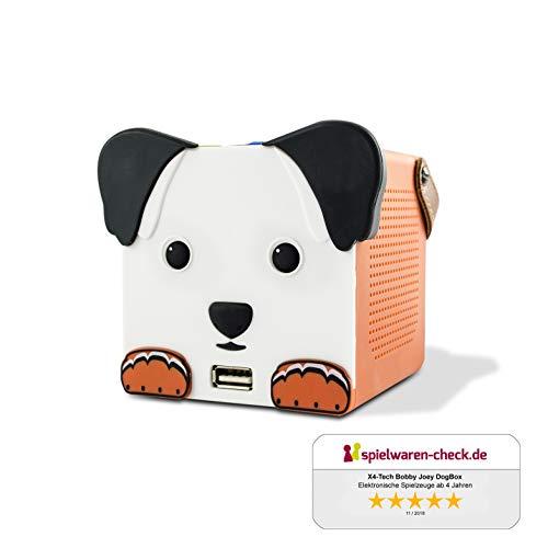 X4-TECH Bobby Joey Dogbox - Bluetooth-Box für Kinder - USB, SD, LED-Beleuchtung