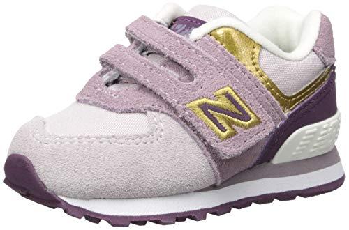 New Balance 574 V1 - Tenis de gancho y bucle, cachemira ligera, 2 W EE.UU. bebé