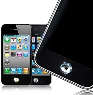 Bling Diamond Home Button Sticker for iPhone 4S 4 3GS 3G 2G iPad 2 iPad iPod Touch - Light Blue