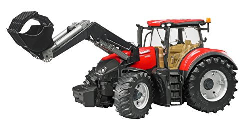 bruder 03191 Fahrzeug-Case IH Optum 300 CVX mit Frontlader, bunt