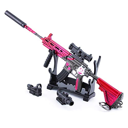 DJIEYU 1/4 escala militar militar miniatura M416 HK416 fusil de asalto pistolas de metal modelo pistola figura accesorios de juguete llavero fundido decoración juguetes