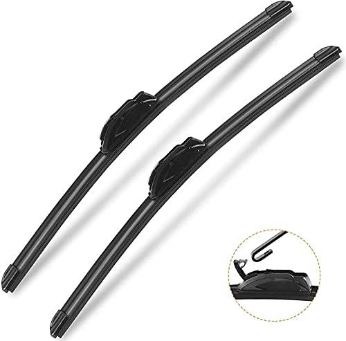 "Autoboo Oem Quality 24"" + 18"" Premium All-Seasons Windshield Wiper Blades 2 Pack"