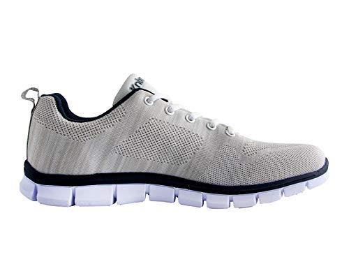 Knixmax-Zapatillas Deportivas de Hombre Zapatillas de Running Fitness Sneakers Zapatos de Correr Aire Libre Deportes Casual Zapatillas Ligeras para Correr Transpirable Blanco 43EU