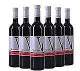 VIPAVA 1894 Rotwein Merlot 2015, von Hand gelesener trockener roter Wein (6 x 0,75 l)