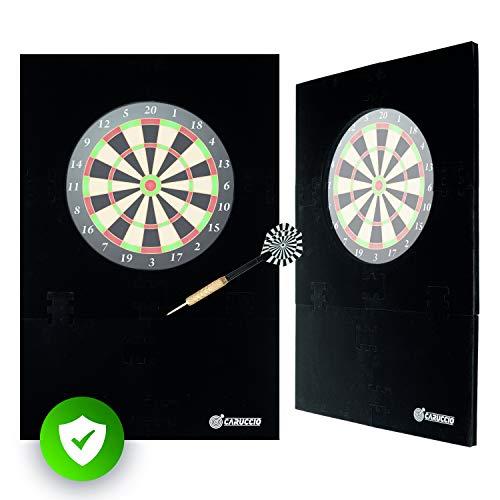 Caruccio Dart Surround XXL Catchring | Der extra große Wandschutz für Deine Dartscheibe | Premium Auffangring für Steeldarts | Hochwertiges Backboard | Dartzubehör für Dartboard