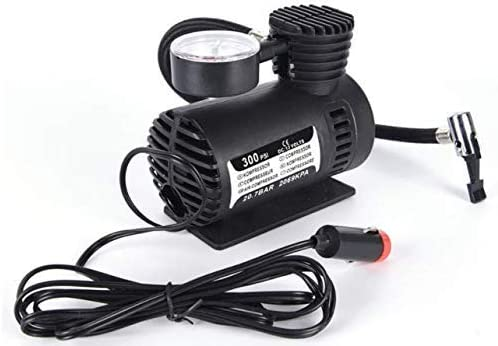 TWO BIX Air Compressor for Car and Bike 12V 300 PSI Tyre Inflator Air Pump for Motorbike,Bicycle,for Football,Cycle P...