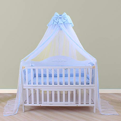 Baby Netting Baby Toddler Bed Crib Dome Canopy Netting (Butterfly Blue)