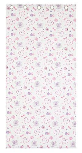 Catherine Lansfield mooie Kitty oogje gordijnen, grijs - 66 x 72 inch