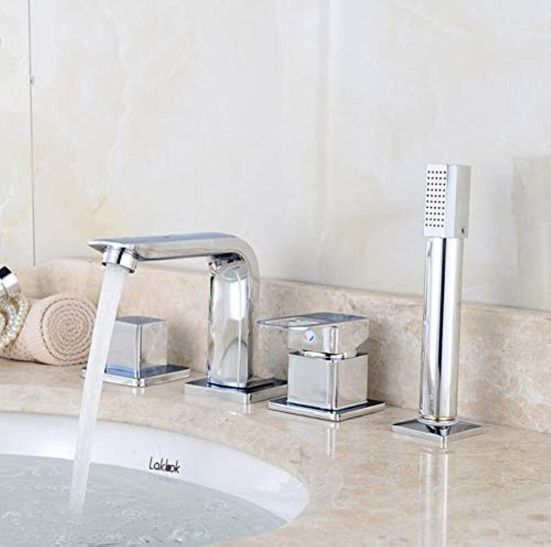 Wasserhahn High-End-Becken Wasserhahn Heien Und Kalten Wasserhahn Sitzen Badewanne Wasserhahn Bad Vierteilig